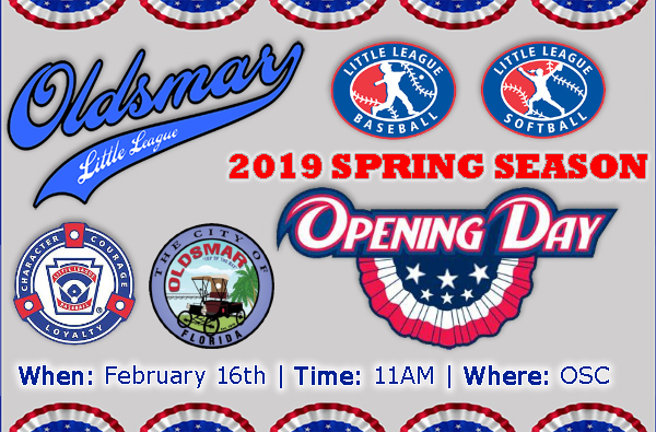 Oldsmar Little League - OPENING DAY!
