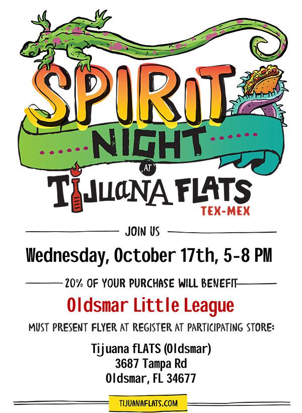OLL Spirit Night at Tijuana Flats!